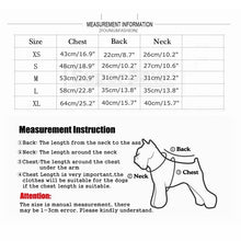 Load image into Gallery viewer, Fashion Dog Jacket Pet Winter Warm Coat For Small Medium Dogs Schnauzer French Bulldog