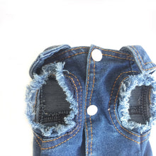 Load image into Gallery viewer, Denim Dog Vest Light or Dark Jeans