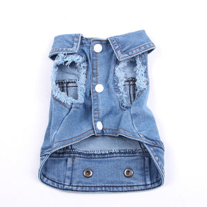 Denim Dog Vest Light or Dark Jeans