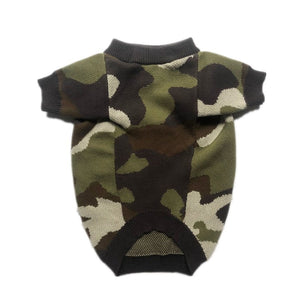 Fashion Pet Dog Camouflage Sweater Jumper Clothes Winter Warm Hoodie Jacket Coat Apparel for Small Medium Dogs Corgi Pug