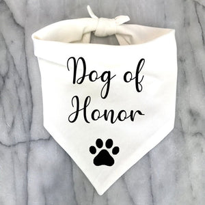 Best Dog of Honor Bandana