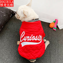 Load image into Gallery viewer, New pet cotton coat Korean version fashion dog clothes autumn and winter cat clothes thicker pet coat dog vest