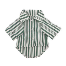 Load image into Gallery viewer, Dog Dress Shirt in Green, White or Grey for small to medium sized dogs