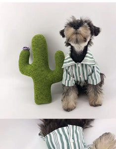 Dog Dress Shirt in Green, White or Grey for small to medium sized dogs
