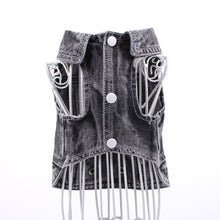 Load image into Gallery viewer, Black Denim Vest for small to medium sized dogs