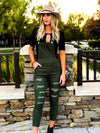 Womens Olive green overalls