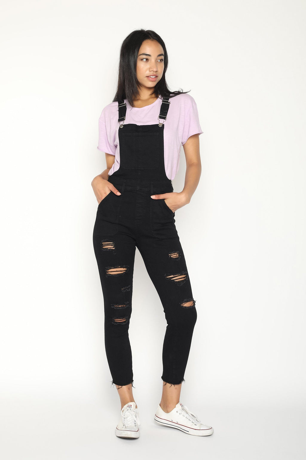 Black Womens overalls