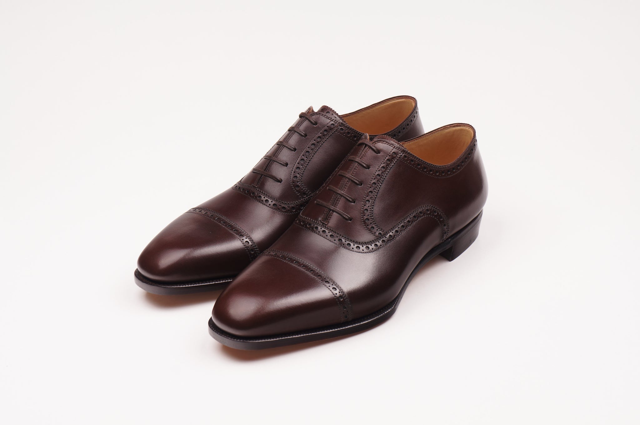 STEFANO BEMER E6620 OXFORD IN BROWN BOX CALF