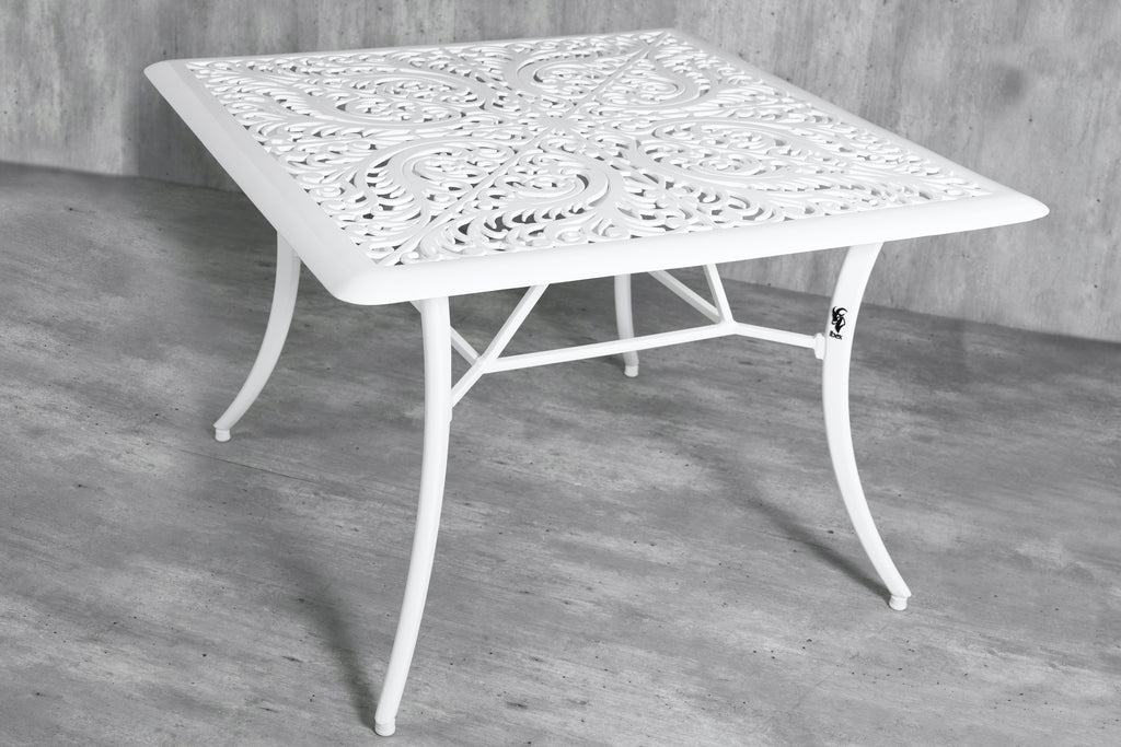 Vega Floral  Aluminium Outdoor Square Table