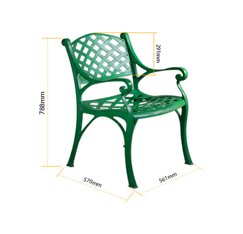 Orion Single Aluminium Outdoor Chair - Sturdy and Comfortable