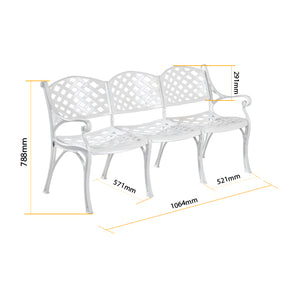 The Orion Garden Bench 3Seater