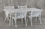 Vega Floral Rectangle Dining Table and 4Chairs (Set of 5)