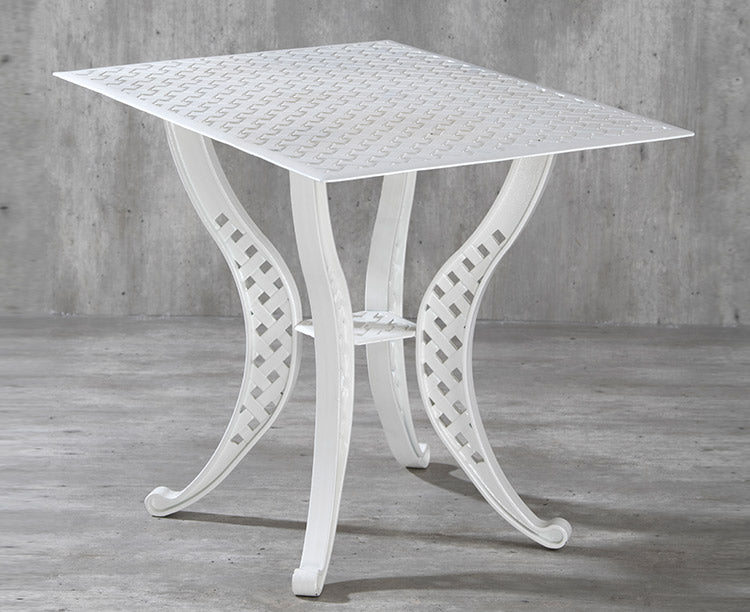 Orion Rectangle Aluminium Table - Basketweave design