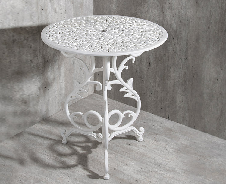 Vela Small Flower Aluminium Table