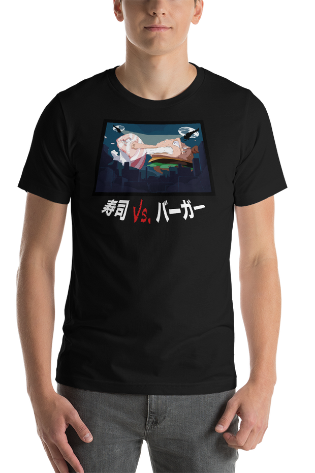 Sushi Vs. Burger Unisex T-Shirt