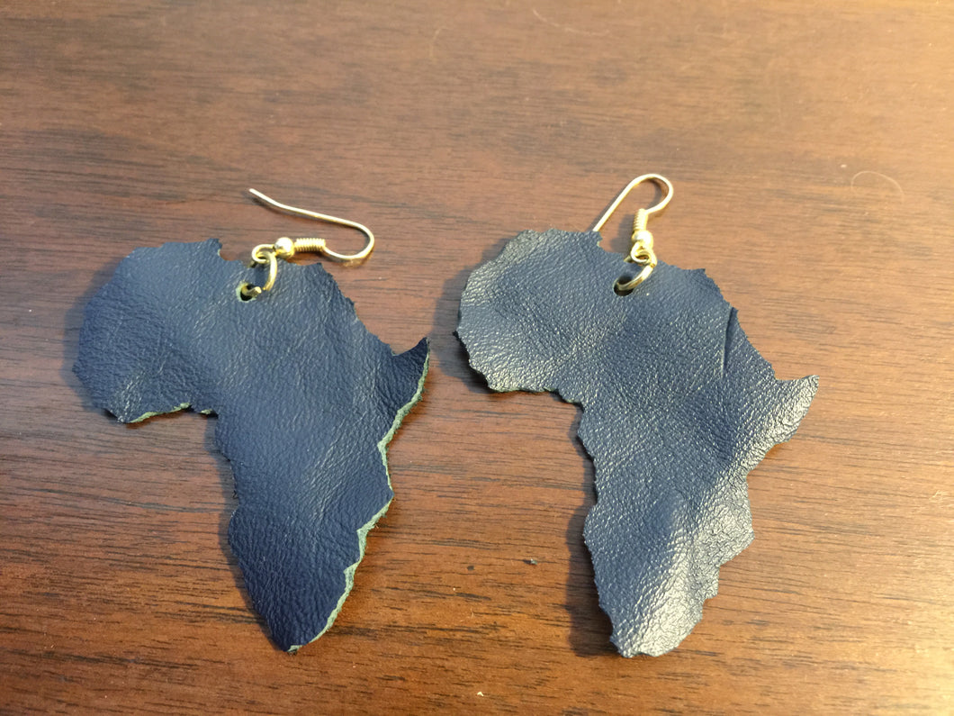 Leather Africa Earrings
