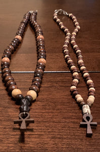 Mini Ankh Beaded Necklace