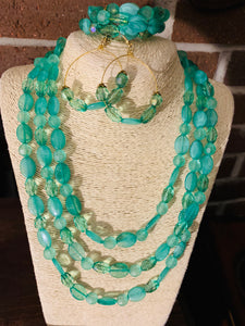 Sea Green Necklace Set
