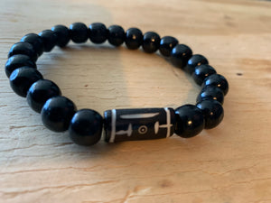 Ebony Bone Bead Bracelet