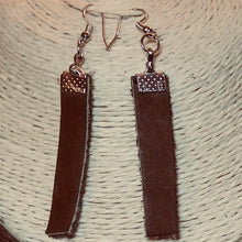 Leather Ankh Chocker and Earrings