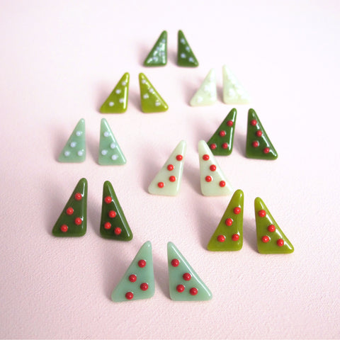 Holiday Earrings — Christmas Trees