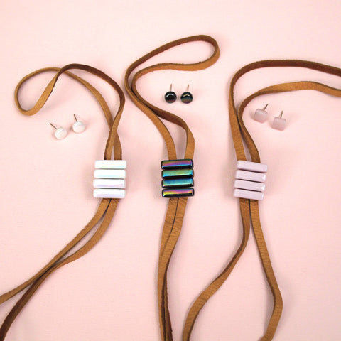 Rally 4-Bar Bolo and Earring Set