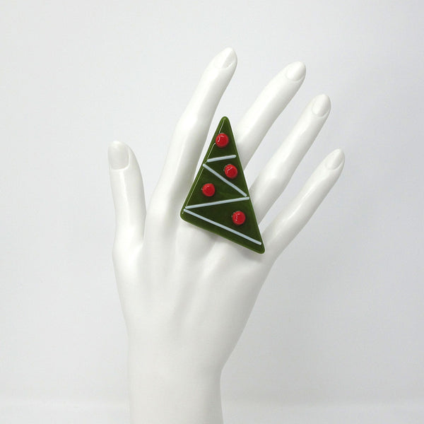 Holiday Statement Ring — Christmas Tree