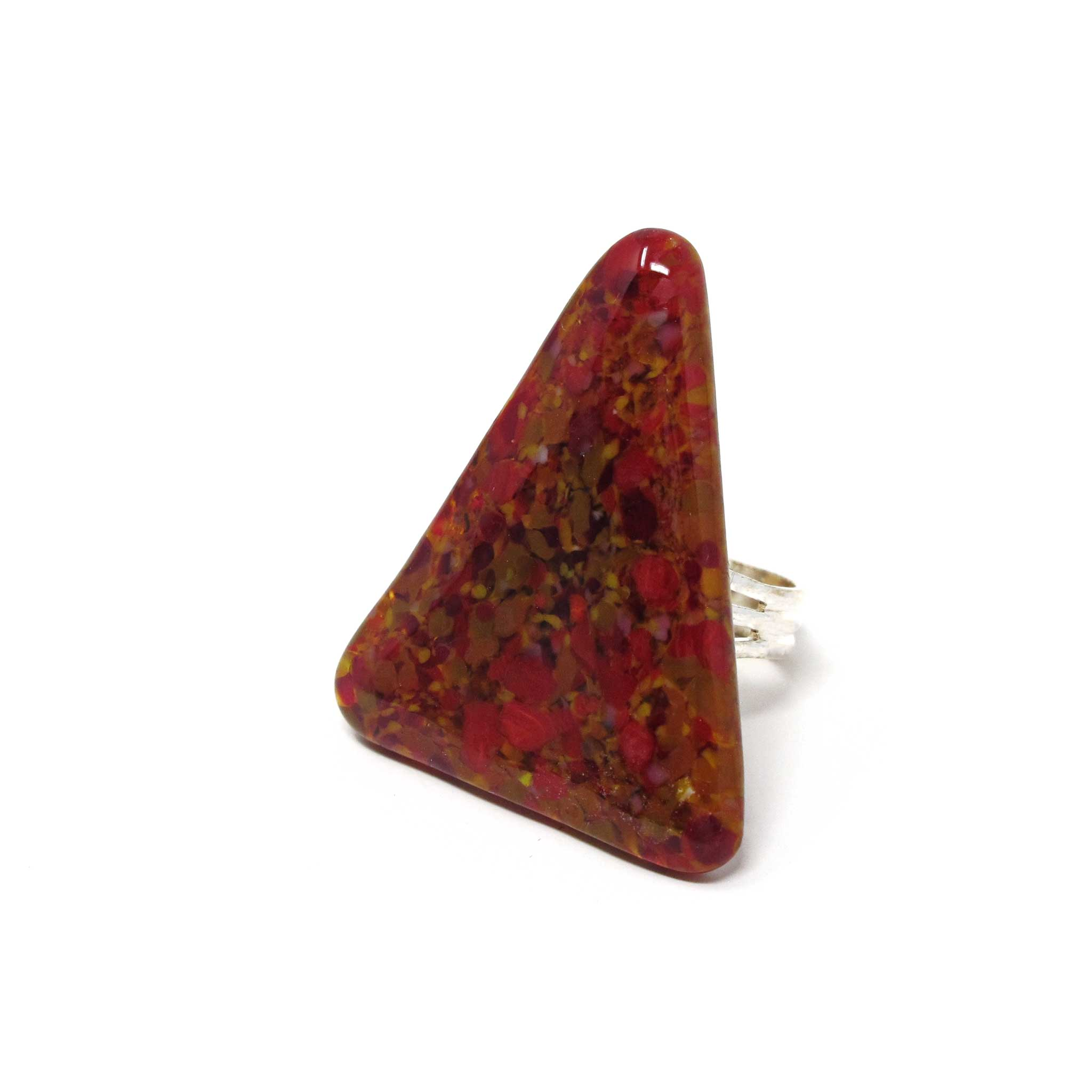 KISMET stone effect statement ring in red jasper
