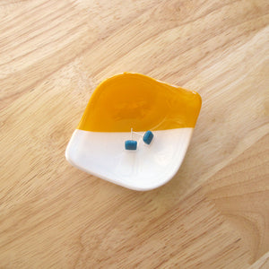 Catchall Ring Dish - Saffron and White
