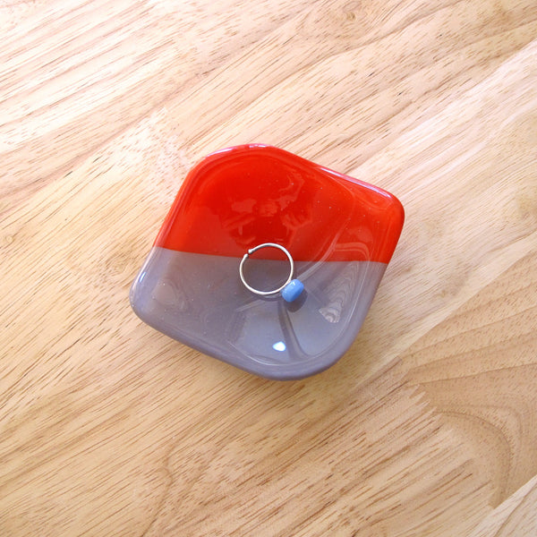 Catchall Ring Dish - Scarlet and Mink