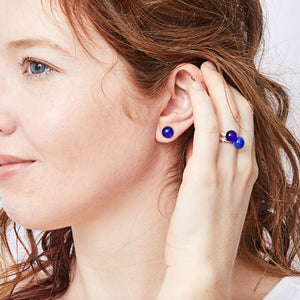 Katie Kismet dot stud earrings and dot ring