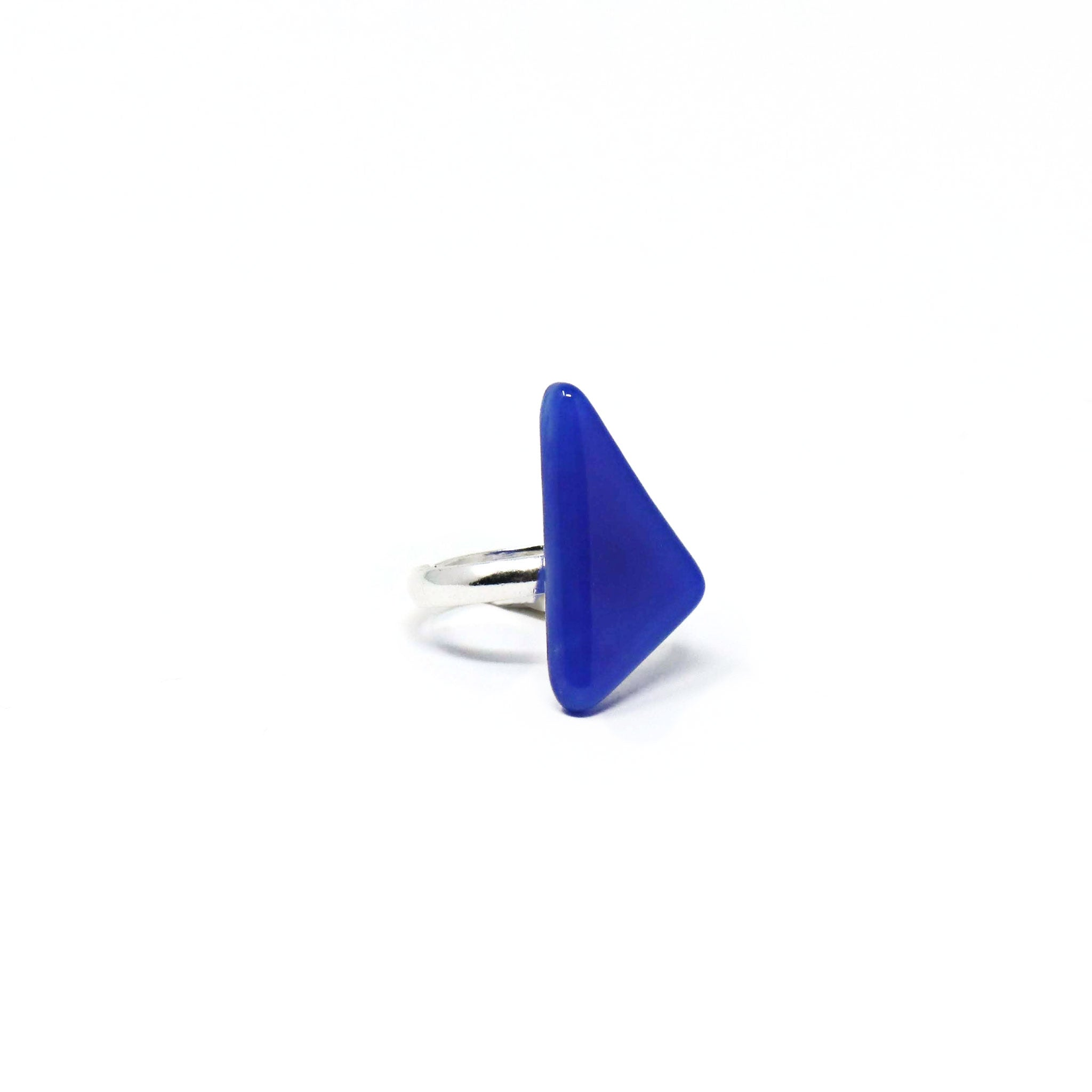 Blue Skies Triangle Ring