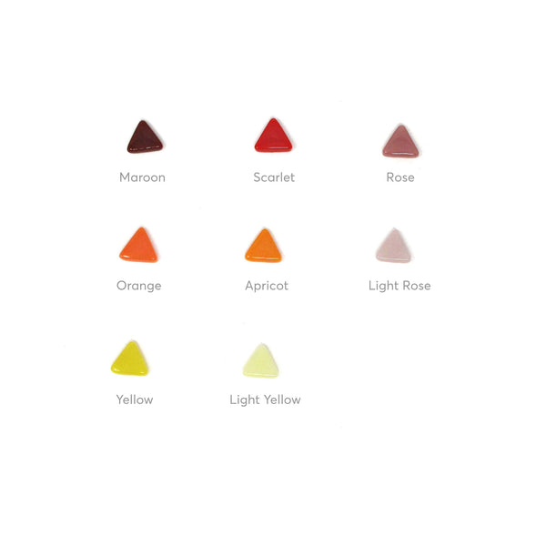 Rally Collection - Triangles - warm colors