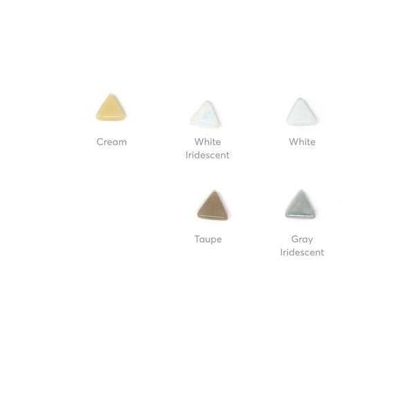 Rally Collection - Triangles - neutral colors and iridescents