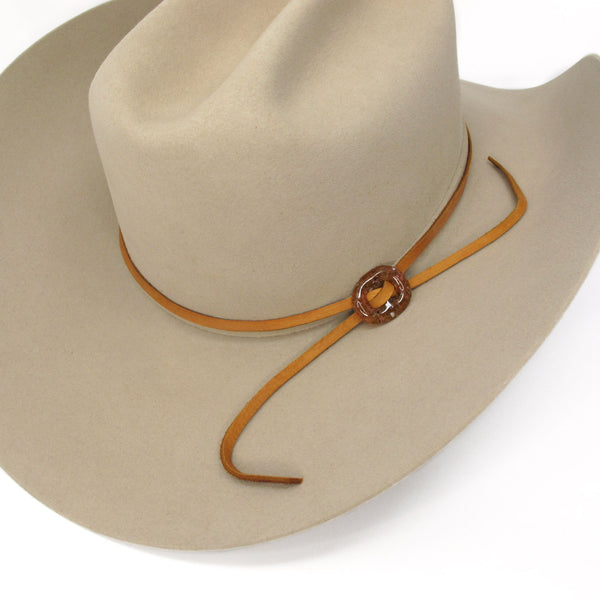 Katie Kismet Stone Lariat Bolo Tie in Amber for men and women as hat band on hat