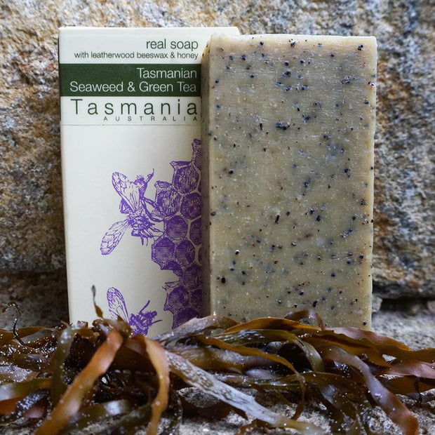 Tasmanian Seaweed Green Tea Body Solid Soap Bar Scrub - Professor Fuzzworthy - Professor Fuzzworthy Beard Care