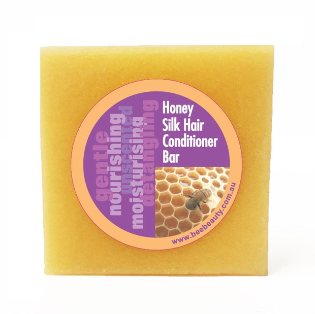 Honey Silk Hair Solid Conditioner Bar Sample - Beauty and the Bees - Professor Fuzzworthy Beard Care