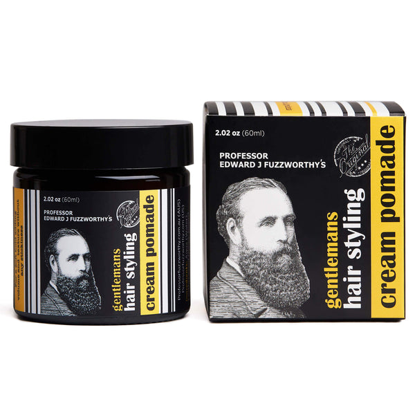 Gentlemans Hair & Beard Styling Cream Pomade - Professor Fuzzworthy - Professor Fuzzworthy Beard Care