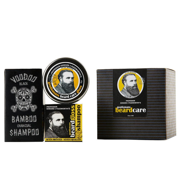 Voodoo Beard Care Grooming & Hair Kit - Professor Fuzzworthy - Professor Fuzzworthy Beard Care