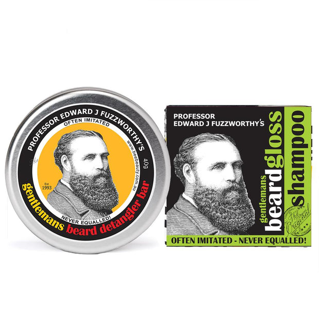 Apple Cider Tonic Solid Beard Shampoo Bar & Conditioner - Professor Fuzzworthy - Professor Fuzzworthy Beard Care