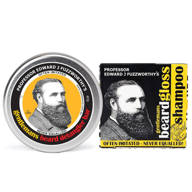 Solid Beard Shampoo Bar & Conditioner Bar - Professor Fuzzworthy - Professor Fuzzworthy Beard Care