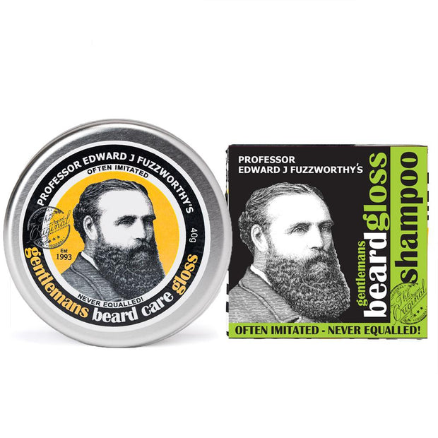 Apple Cider Vinegar Solid Beard Shampoo Bar & Beard Balm Gloss - Professor Fuzzworthy - Professor Fuzzworthy Beard Care