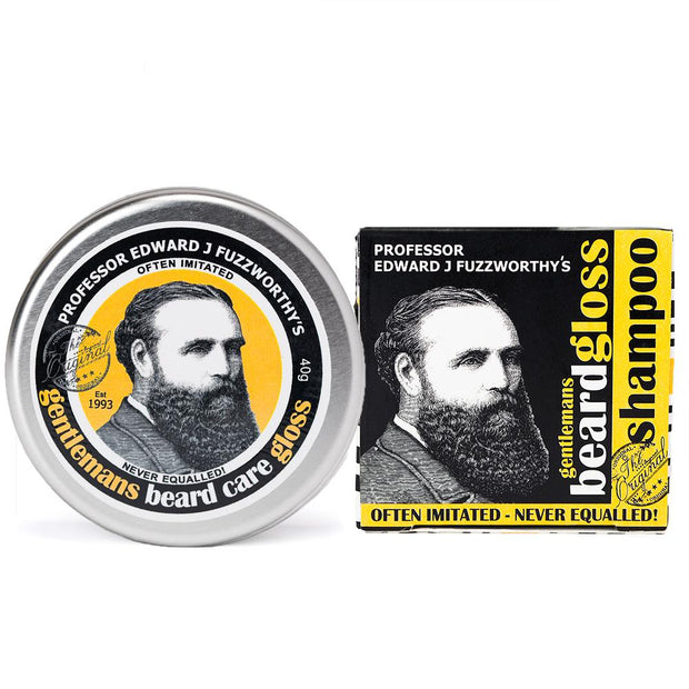Solid Beard Shampoo Bar & Beard Balm Gloss Pack - Professor Fuzzworthy - Professor Fuzzworthy Beard Care