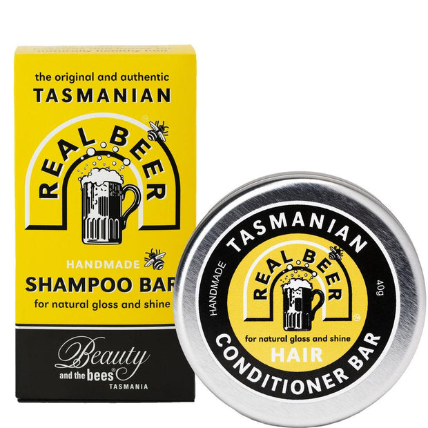 Solid Beer Shampoo Bar & Conditioner Bar Care Kit - Professor Fuzzworthy - Professor Fuzzworthy Beard Care