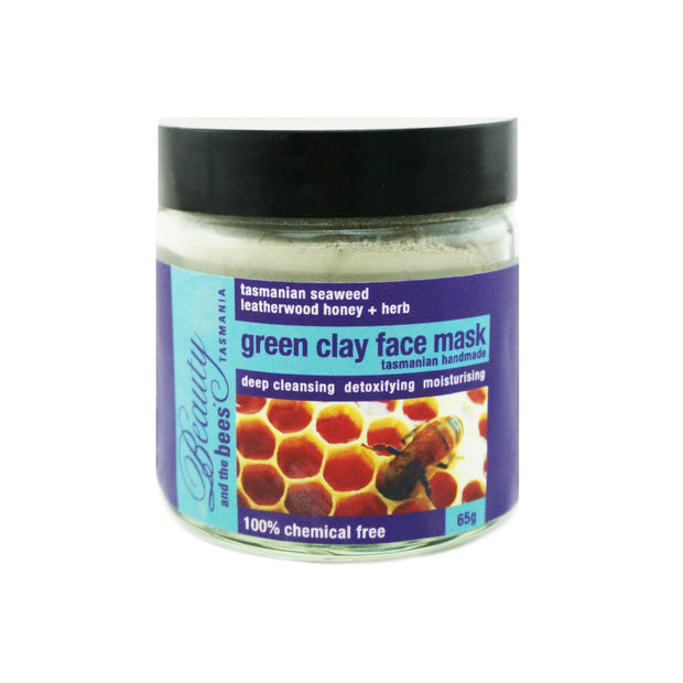 French Green Clay Mask with Herbs & Honey - Beauty and the Bees - Professor Fuzzworthy Beard Care