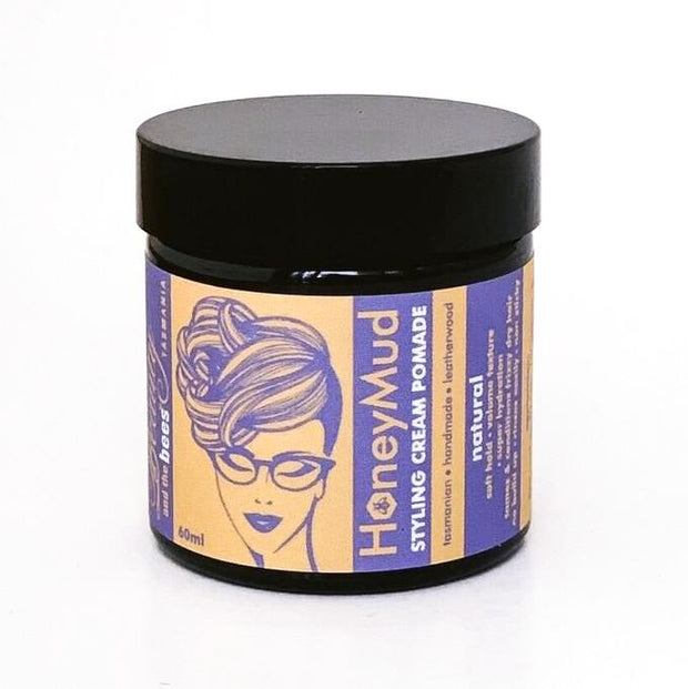Honey Mud Hair Styling Cream Pomade - Beauty and the Bees Tasmania - Professor Fuzzworthy Beard Care