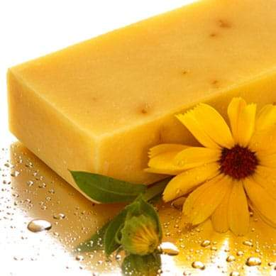 Marigold flower and leatherwood honey solid soap bar - Beauty and the Bees - Professor Fuzzworthy Beard Care
