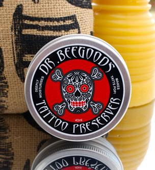 Dr. Beegood's Tattoo Preserver - Beauty and the Bees - Professor Fuzzworthy Beard Care
