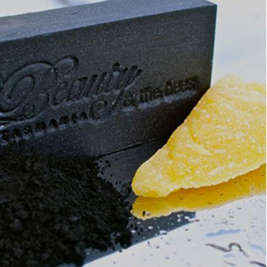 Black Velvet Bamboo Activated Charcoal Soap - Beauty and the Bees - Professor Fuzzworthy Beard Care