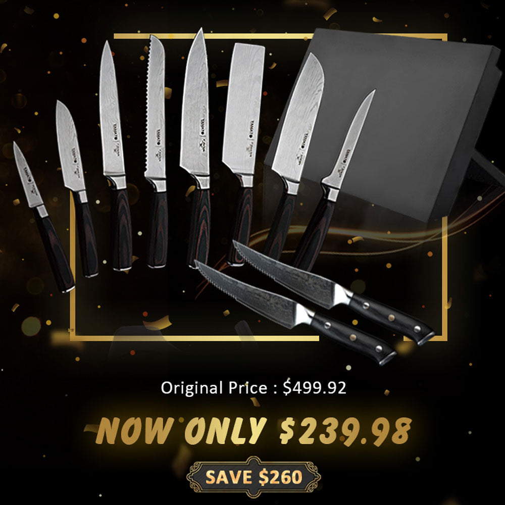 YAMATO Japanese Chef Knife Set【Ship From US】